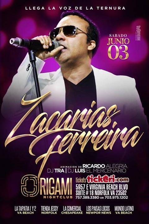 Zacarías Ferreira En Origami Night Club Virginia At 5957 E