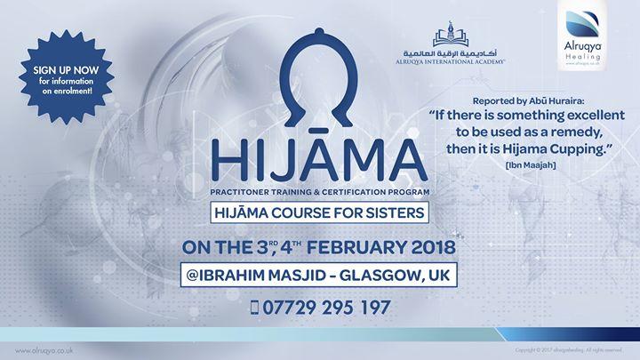 Alruqya Healing Sisters 2 Day Hijama Course at IBRAHIM MASJID - 425 ...