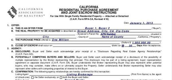 The Residential Purchase Agreement41 Essential Disclosures At