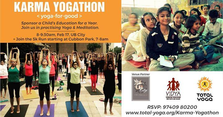 KARMA YOGAthon Bangalore