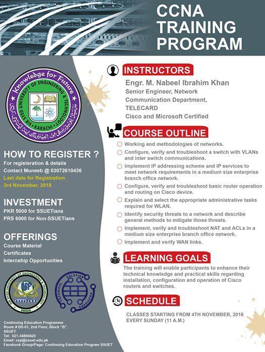 Free orientation CCNA at SSUET - Sir Syed University of