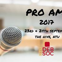 NTU Pro Ams Debating Championship 2017