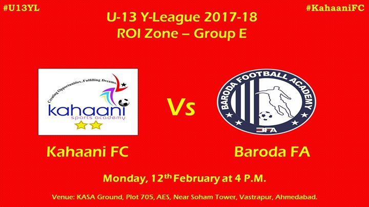 U-13 Youth League 2017-18 Kahaani FC vs Baroda FA