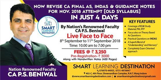 COMPLETE YOUR CA FINAL IND AS & AS IN JUST 4 DAYS