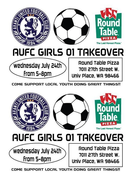 Aufc Girls 01 Fundraising Takeover At Round Table Pizza