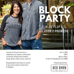 Block Party Flip Or Flop Season 2 Premiere At Elm Street Green