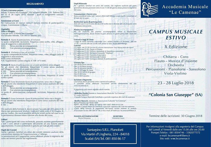 Corso di perfezionamento pianistico Dario Candela