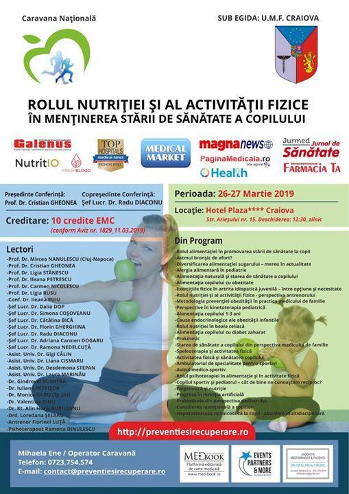 Caravana Nationala Rolul nutritiei si al activitatii fizice