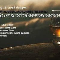 An evening of Scotch Appreciation