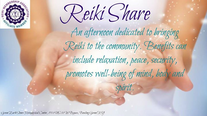 free reiki share at green earth stones metaphysical shop bowling green