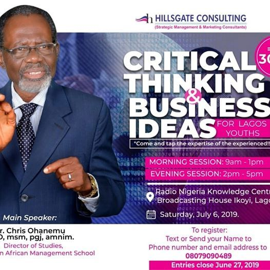 Critical Thinking And Business Ideas For Lagos Youths at