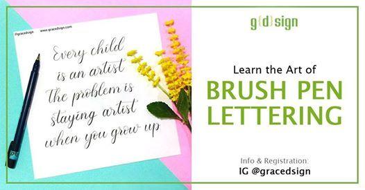 Learn The Art of Brush Pen Lettering