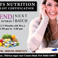 Sports Nutrition Specialist Certification Course