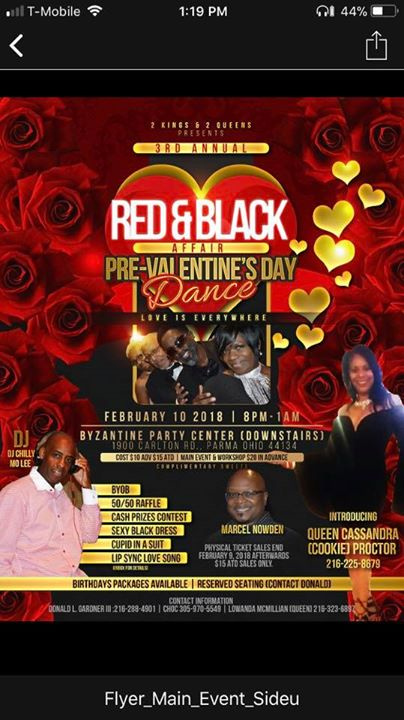 red black affair pre valentines day dance at 0 parma