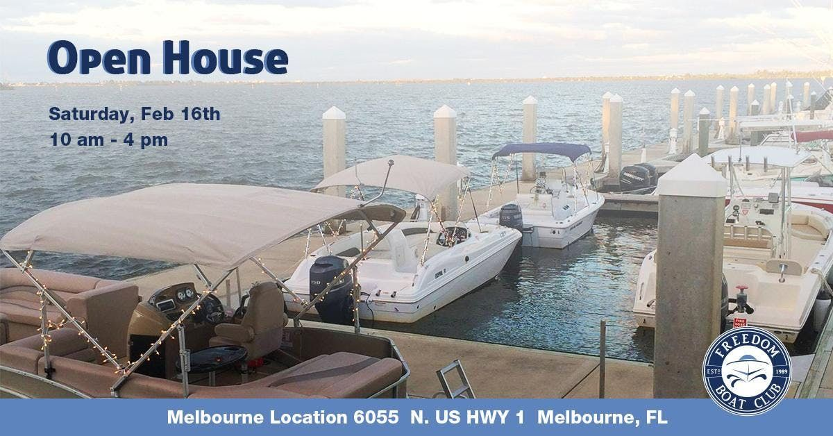 Freedom Boat Club Open House | Melbourne
