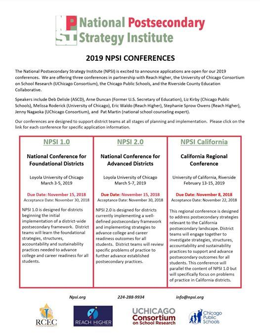NPSI 1.0National Conference for Foundational Districts
