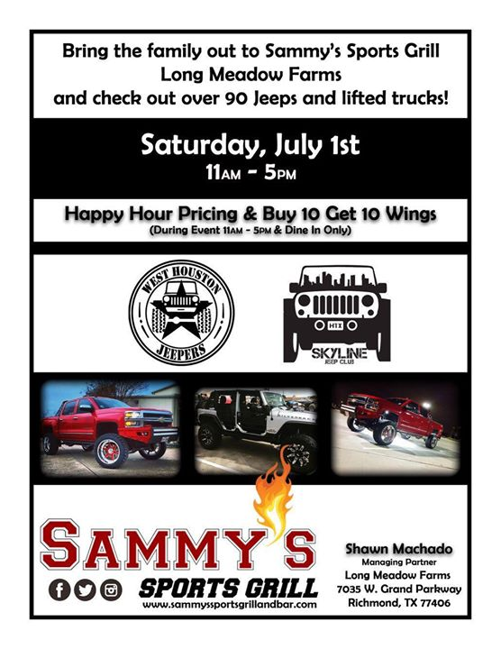 Sammys Summer Jeep Event