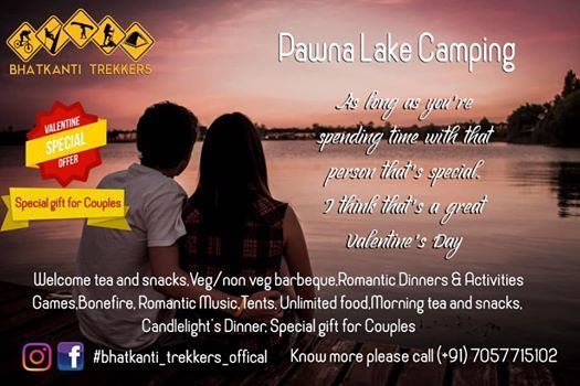 Valentines Day special Pawna lakeside camping