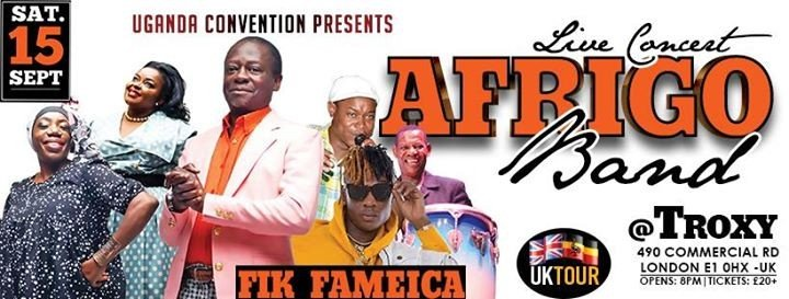 Afrigo Band  FIK Fameica London Concert - 15th Sept