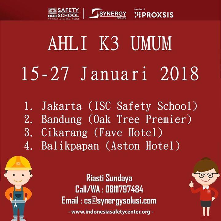 Training Ahli K3 Umum (15-27 Januari 2018)