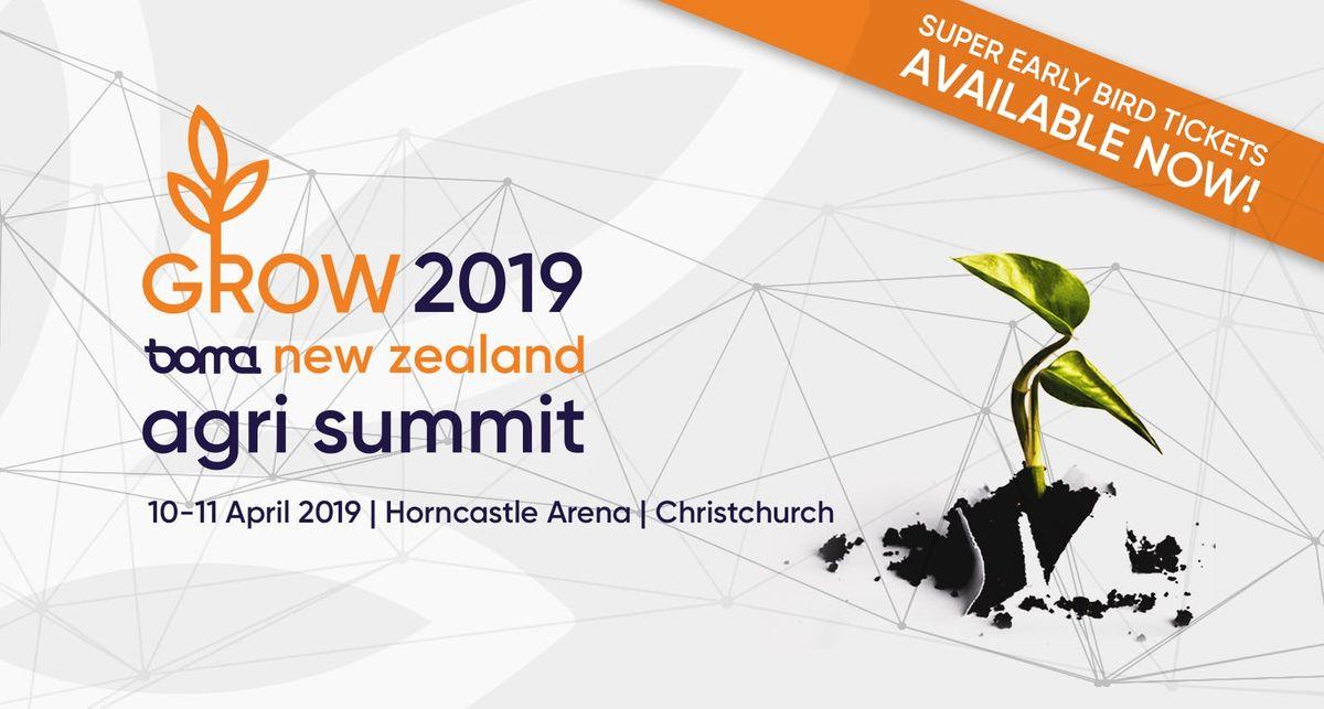 Grow 2019 Boma NZ Agri Summit  Christchurch  10-11 April 2019