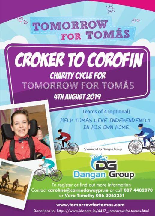 Croker to Corofin Cycle for Tomas Mc Loughlin