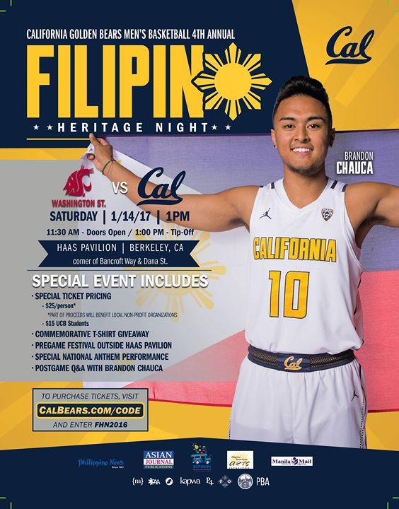Cal Bears Basketball Filipino Heritage Night