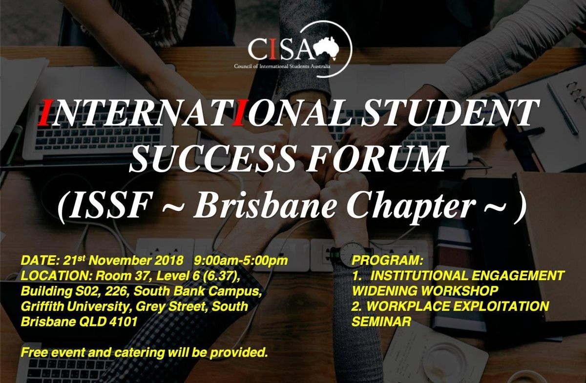 International Students Success Forum (ISSF) - Brisbane Chapter at