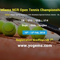 YoGems NCR Open Tennis Championship 2018