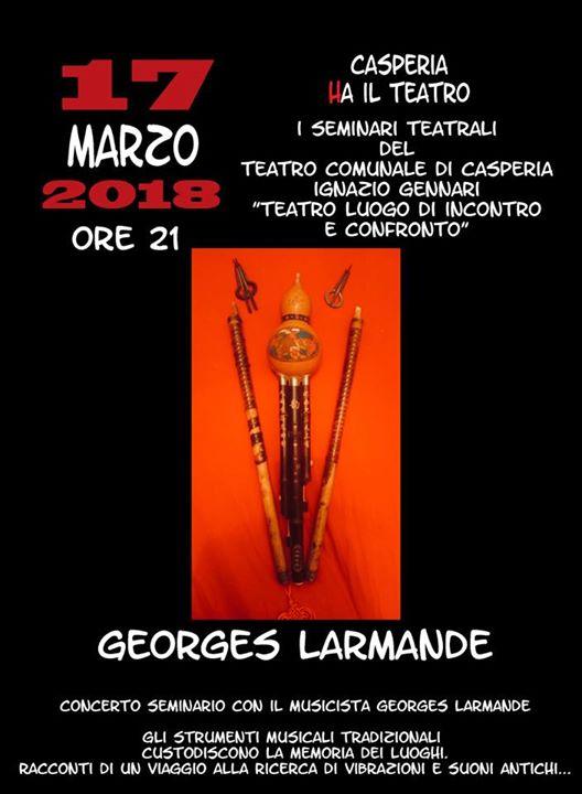 Concerto seminario con Georges Larmande