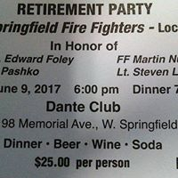 West Springfield Fire Fighters Retirement Party