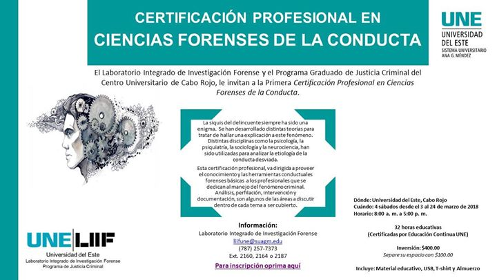 Certificación Profesional en Ciencias Forenses de la Conducta at ...