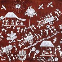 Workshop  Warli Painting by Naresh S Bhoye Dilip Rama Bahotta