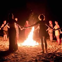 Womens Fire &amp Moon Circle