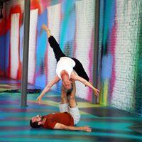 Acro yoga with Linda
