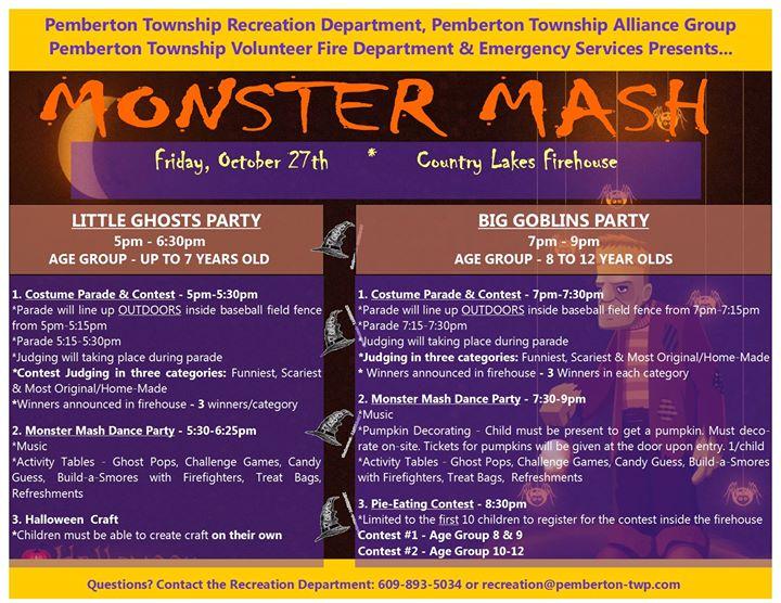 Pemberton township monster bash browns mills pemberton township monster bash sciox Choice Image