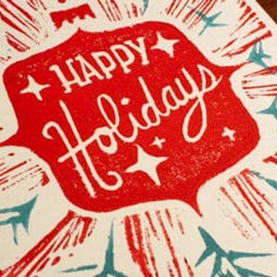 block print your own handmade holiday cards with ali herrmann at