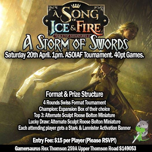 A Storm of Swords - A Song of Ice & Fire Tournament