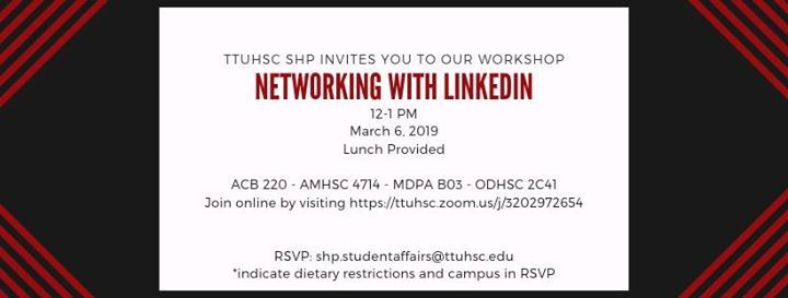Networking With Linkedin At Texas Tech University Health Sciences
