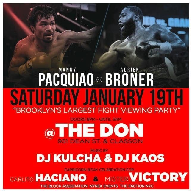 FIGHT CLUB - Manny Pacquiao VS Adrian Broner Viewing Party