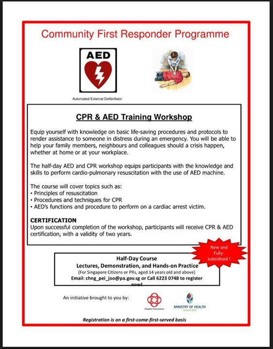 Cpr And Aed Course At Tiong Bahru Community Centre Singapore