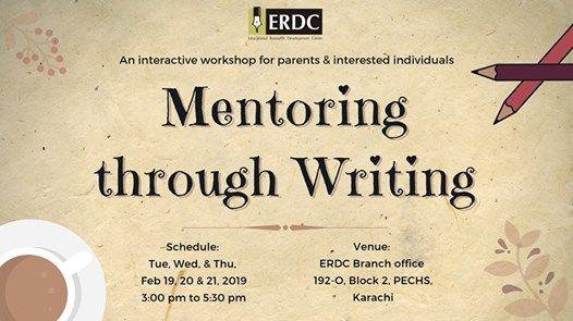 ERDC Workshop Mentoring through Writing