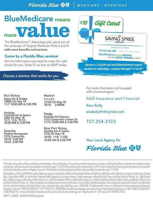 Florida Blue Medicare >> Florida Blue Medicare Seminar At Quality Inn Suites