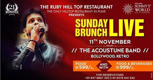Come and Enjoy Sunday Brunch Live Sunnys World