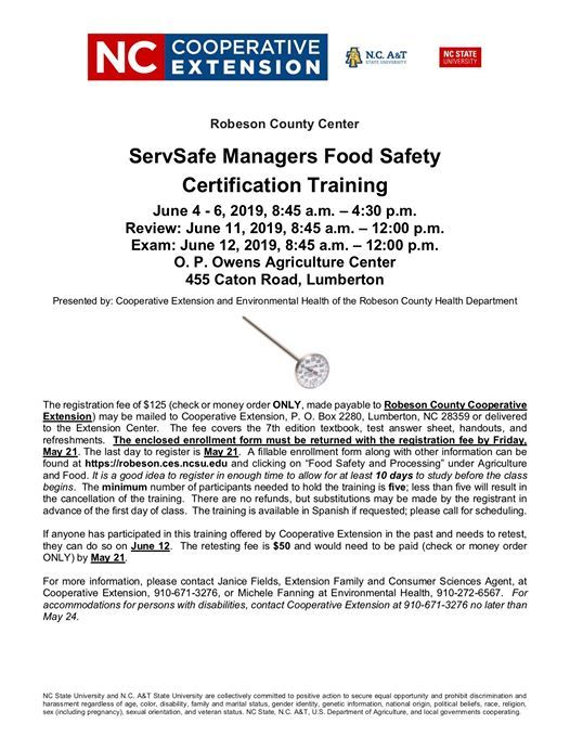 ServSafe Managers Food Safety Certification Training at