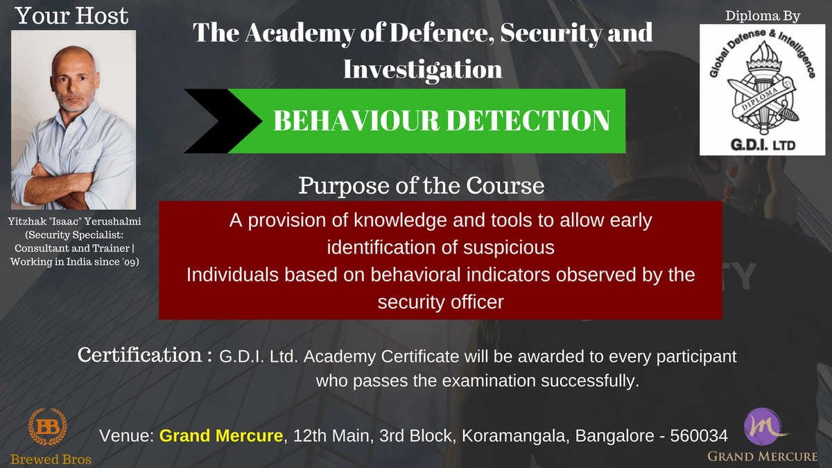 Behavior Detection-Defense Security and Investigation Training