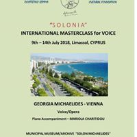 Masterclass for VOICE in LimassolCyprus 9 -14 of July 2018