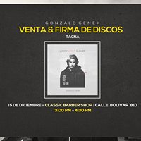 Gonzalo Genek en TACNA Firma &amp venta de discos