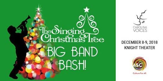 The Singing Christmas Tree: BIG BAND BASH! at Knight Theater at Levine  Center for the Arts430 S Tryon St, Levine Center for the Arts, Charlotte,  ... - The Singing Christmas Tree: BIG BAND BASH! At Knight Theater At