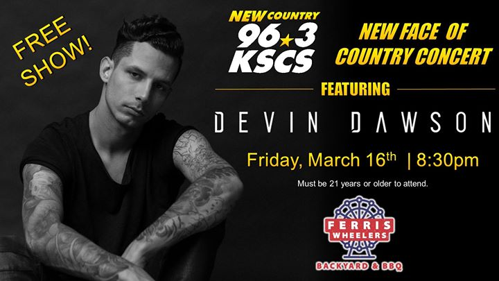 New Face of Country Concert ft. Devin Dawson